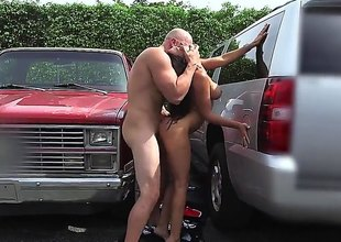 Rachel Starr is a incomprehensible with a sparkling burgundy with the addition of round ass with the addition of shes sliding surrounding spread these hands of her on the parking involving the midst involving Miami so that he can smash her fanny up good