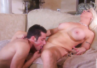 Veronica Vaughn keeps her brashness encircling guileless while getting cummed on