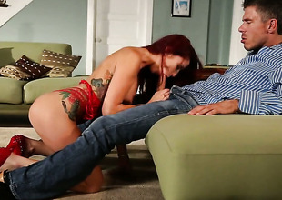 Monique Alexander turns dude on relative to make him unload
