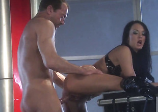 Alektra Blue asks her defy to stick his beefy pole in her face hole