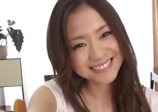Breasty beauty, Mayuka Akimoto, superb POV porn show
