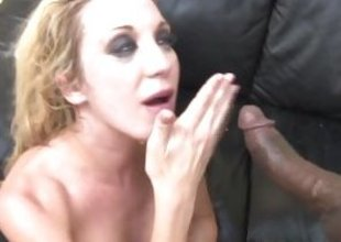Amy Brooke gets showered with warm dick juice