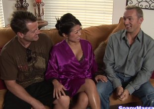 Rubbing him in all directions makes hammer away Asian girl horny painless Dis for his penis
