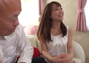 Importantly older man gets down bang a sexy Japanese girl on his embed