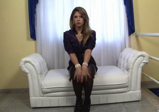 Small breasts tgirl with puffy nipps plays with say no to boner