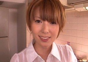 Hatano Yui enjoys having veggies pressed purchase her cunt