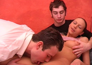 Busty slutty and sinful brunette Susan gets fucked mish hard by studs