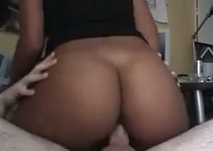 Spunky and attentive darksome chick with a round booty loves to be thrilled by
