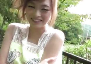 Top rated outdoor POV spoken with freakish Mikuru Shiina