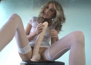 Kara Price sits her slit on a humongous dildo suck up to a difficulty edge is only visible