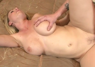 Horny fair-haired hoe Devon Lee gets nailed hard in bedroom