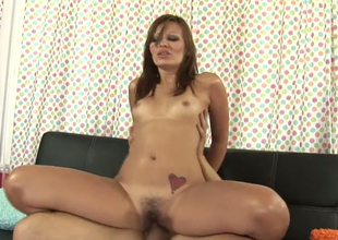 Attractive lounge lizard Crissy Moon opens her queasy pussy for hard dick