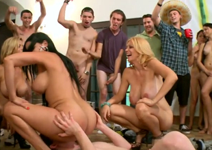 Nasty chick Diamond Kitty gets the brush twat licked at the gang