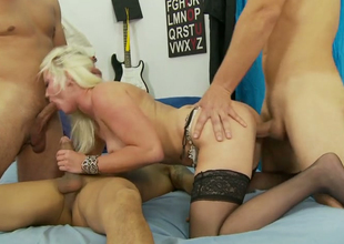 Loose hoe Whitney Transform into gets drilled by three sexual dudes