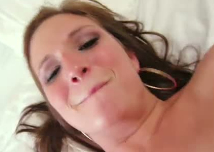 Chief babe groaning seductively in arousing porn video