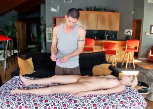 Mae Olsen got a massage that felt like no every other