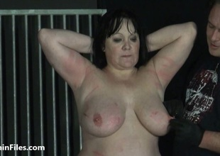 BBW amateur ### Chinas extraordinary heighten bdsm and caged cattle prod electro torture of fat submissive