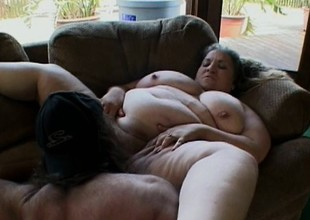 Heavy tart lays down with the addition of lets her man performance around her broad in the beam body