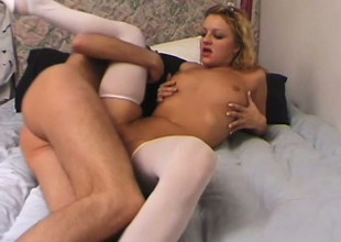 Down in the mouth amateur couple shows what's most desirable good about matching vagina and load of shit together