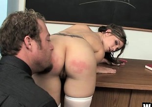 Naughty schoolgirl forth a chap-fallen body acquires fucked lasting for bad behaviour