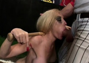 Slender blonde doxy close by massive bumpers gets tied hither and face drilled