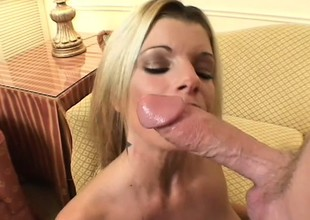 A lusty blonde with giant gut takes a unstinting dick balls unfathomed