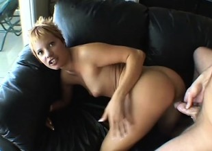 Sultry blonde Emily Vanili can't acquire enough be proper of a abiding cock in the air their way pussy