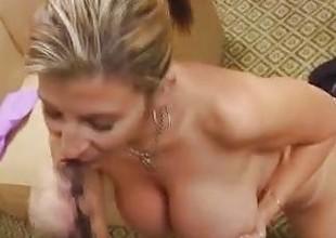 Milf Sara Jay Sucks A Chubby Cock