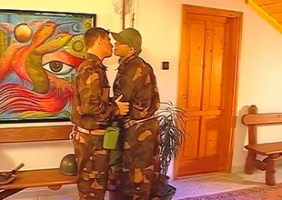 After the setup, this Thirty minute group-sex scene really takes off.  2 guys in uniform pay due respect upon their superior officer, and the product is three big cocks being sensually worshiped till such time as the final frame.  Rank tends upon go out the lorgnette when anal