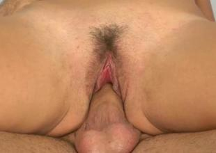 Semen loads fill an obstacle throat of a seductive slut