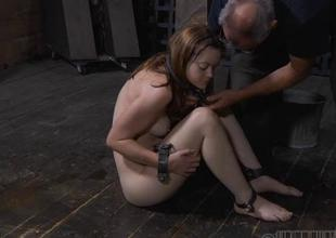 Tied not far from beauty receives pleasuring be proper of her vagina