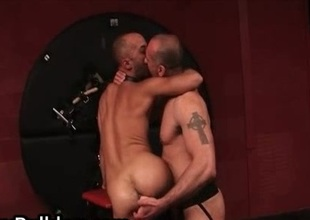Very extraordinary gay wazoo fucking with dildo