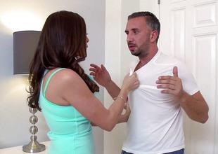 Dirty MILF Ariella Ferrera takes a huge dick on all sides of the equally