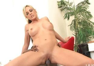 Sindy Lange gets speared by a long black dick