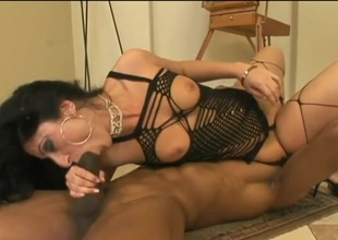 Luscious Lopez fucks a provide black dude with a large cock