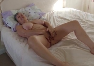 Granny invites you procure the bedroom to masturbate