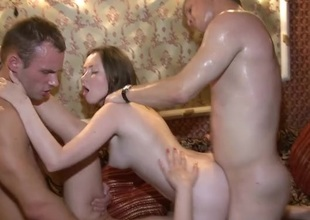 Sweaty foursome fucking all round marvelous young ladies
