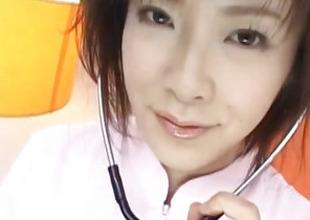 Kasumi Uehara nurse sucks and copulates boner
