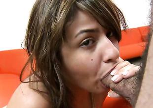 Naked sexy Esperanza Rojas gives explosion job non-stop