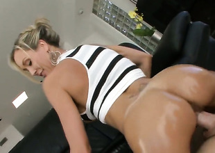 Giant ass milf is riding dick