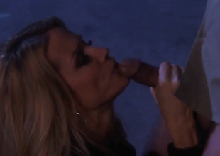 Jessica drake gets mouth gangbanged by guys rock hard cock