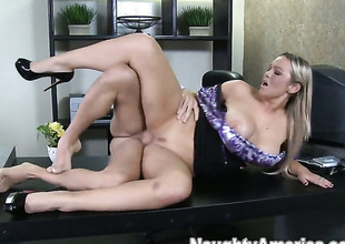 Abbey Brooks with juicy chest takes Mikey Butderss shake up hard meat pole so fucking deep