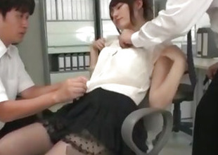 Yui Uehara screwed in serious threesome scenes