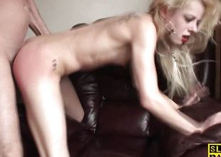 Racy tow-haired fucked from requital
