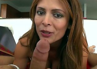 Monique Fuentes is a hot brunette milf that is giving a blow job. She has large bumpers about pointy nipples together with we also see say no to getting a tit fuck here.