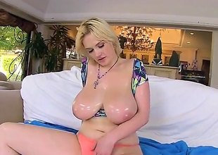 Siri is a mart with huge tits. That babe gets them oiled up and then massaged by a guy. He also fills her pussy up with cum space fully he's fucking her.