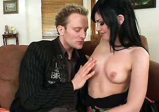 Brunette Andy Sandimas with phat boodle is hopeless for man jizz