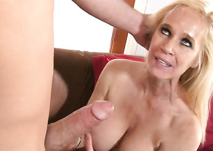 Totally Tabitha takes guys hard sausage in say no to mouth