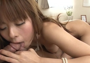 Voluptuous dudes are having galling fun banging Japanese playgirl