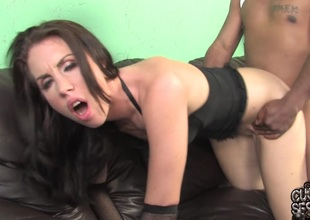 Maggie Matthews sucks a BBC and takes it in her cunt in cuckold gamble